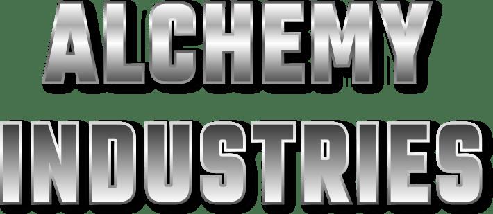 Alchemy Industries chrome text logo